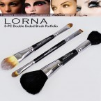 Profusion LORNA 3-Pc Double Ended Make Up Brush Portfolio