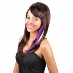 PUT ON PIECES Synthetic Hair Piece Clip-In 2 Color Blends