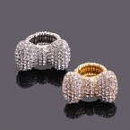 Bow Rhinestone Stretch Ring