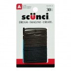 Scunci All Hair Black & Brown Ponytailers 30Pcs