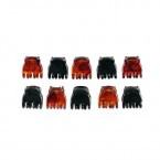 SCUNCI Ugo Black & Brown Claw Clip 10Pcs