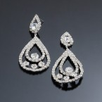 Splendid Teardrop Rhinestone Dangle Earrings