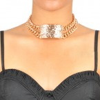 Textured Choker ID​ Necklace