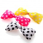 Satin Polka Dot Bow Hair Clips