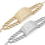 Textured Choker ID Bracelet