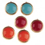 Vintage Bold Circle Clip on Earrings