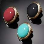 Vintage Bold Circle Stretch Ring