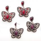 Vintage Butterfly Dangle Earrings