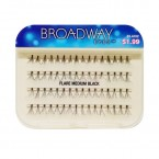 Kiss Broadway Eyes Individual Eyelashes - FLARE MEDIUM