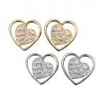 Heart & Rhinestone Earrings
