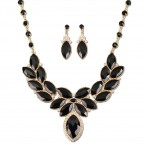 Faux Gemstone Statement Necklace and Earrings