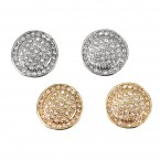 Rhinestone Round Pave Earrings