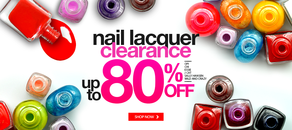 Nail Lacquer 80% off
