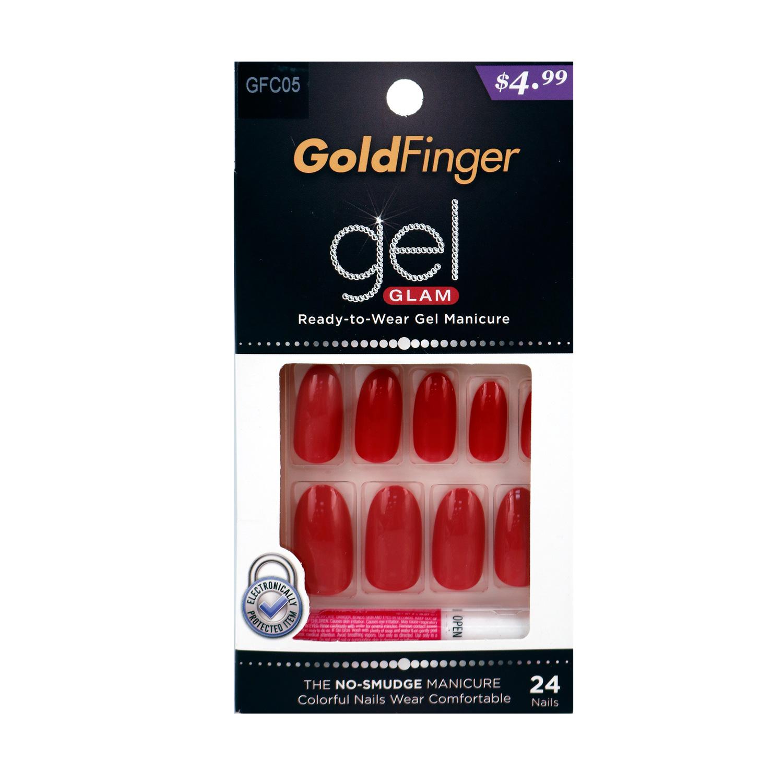 Kiss Gold Finger Gel Glam Nail Kit 24 Nails
