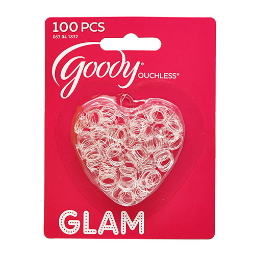 Goody Ouchless Glam Clear Mini Elastics 100Pcs bf79846d406