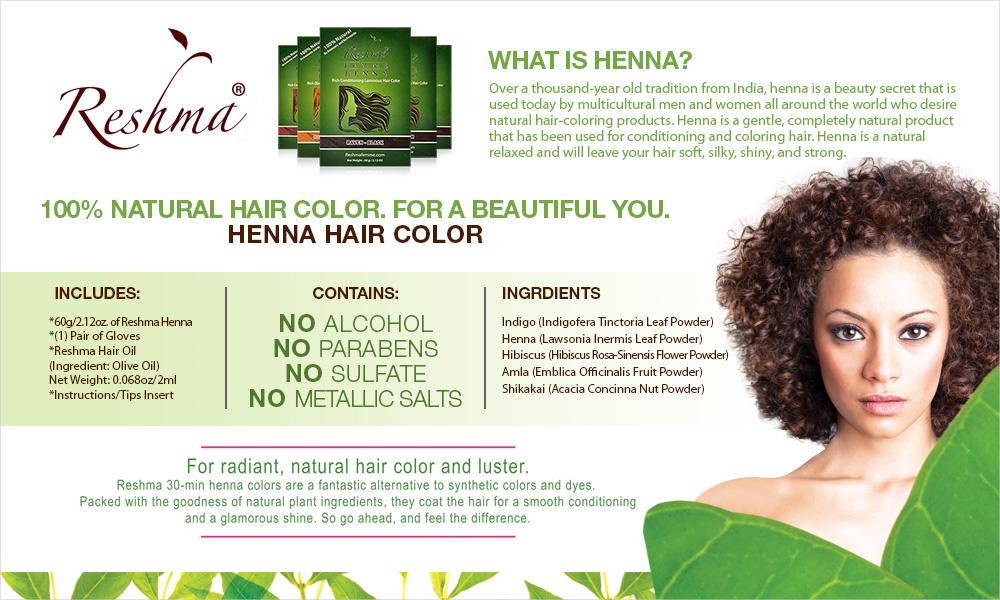 Reshma 100% Natural Henna Semi Permanent Hair Color 2.12oz